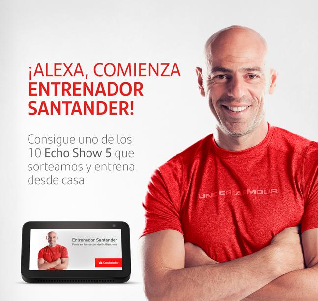 Descubre Alexa Wellness Skill, el nuevo proyecto de Amazon y Banco Santander para el entrenamiento online