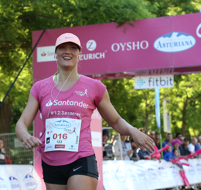 Mireia Belmonte, protagonista en la Carrera de la Mujer de Madrid